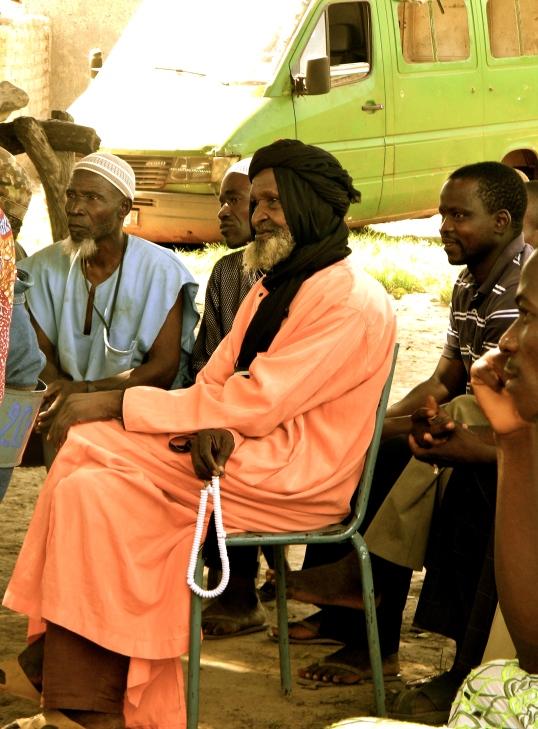 Mali village rural chief dress traditional chef