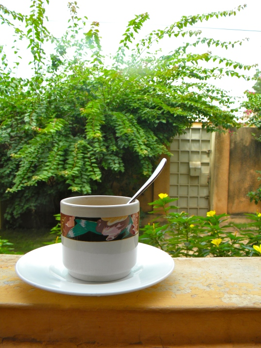 Mali Bamako home yard compound tea coffee garden