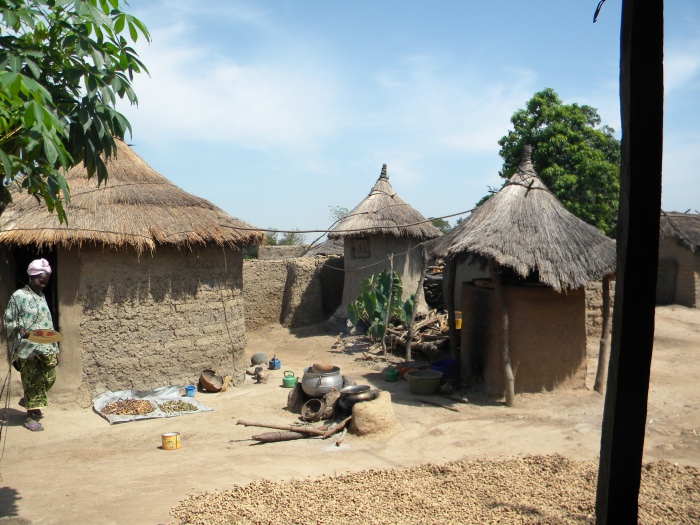 Mali rural village traditional home hut West Africa