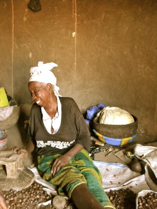 Mali village rural woman shea smile farmer
