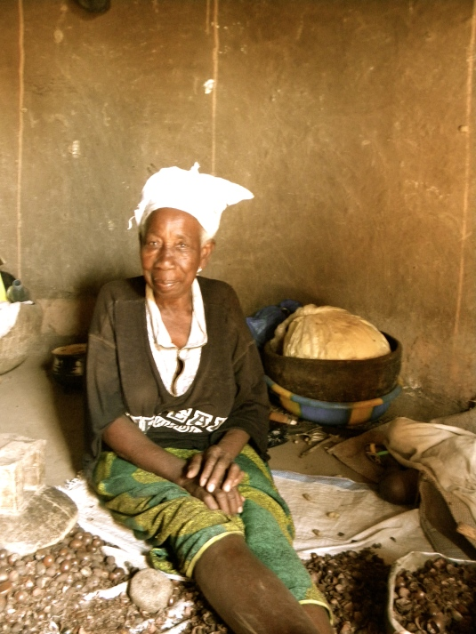 Mali village rural woman shea farmer