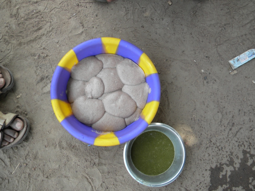 Mali rural village lunch local traditional to sorghum sauce baobab