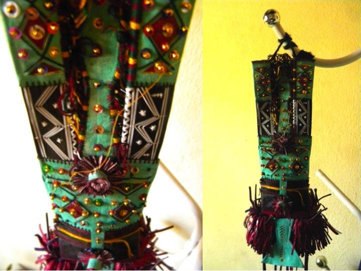 Timbuktu Tombouctou satchel portefeuille secret decoration pocket