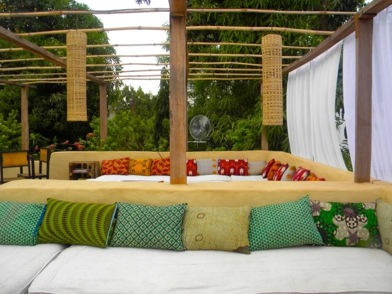 Bamako Mali restaurant rooftop tourism expat furniture design