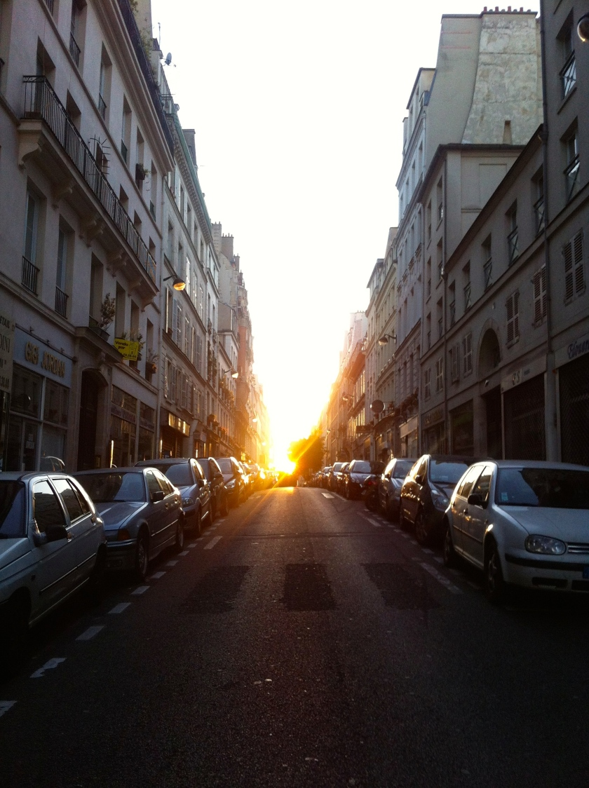 Paris France morning sunrise street urban city
