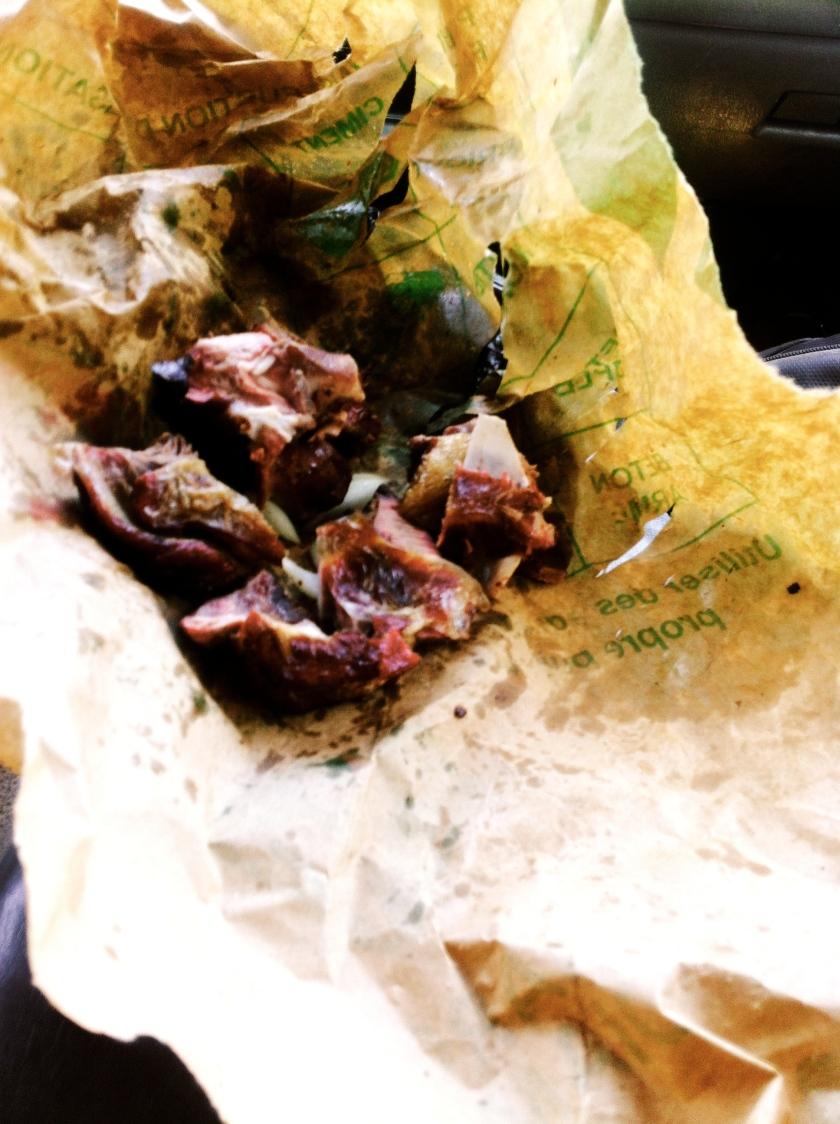 dibisogo Mali street food goat roast