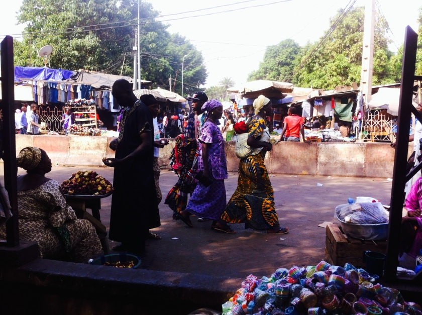 Bamako market souk sougou trade urban women street road scene