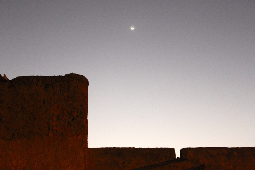 Mali Mopti wall sunset moon traditional
