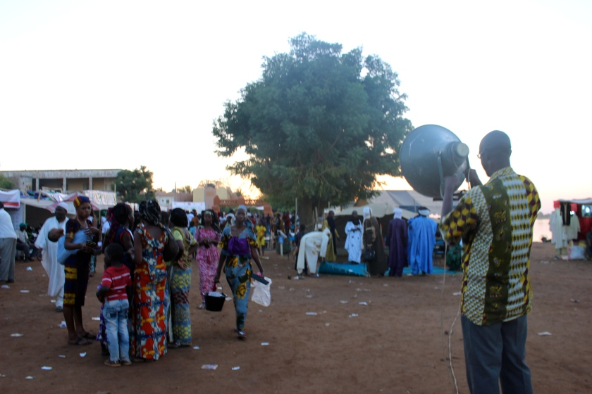 Mali Segou music festival concert crowd sunset