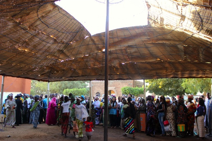 Segou music festival crowd pavilion