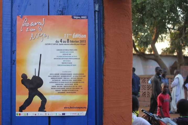 Mali Segou festival Niger music concert poster
