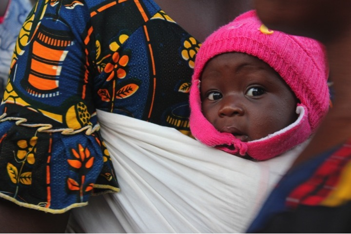 Mali Africa baby hat mother face cute