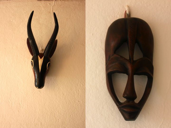 West African mask ebony wood