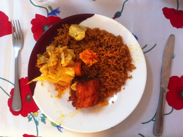 Mali local traditional cuisine rice thieboudienne chebjen ceebu jen