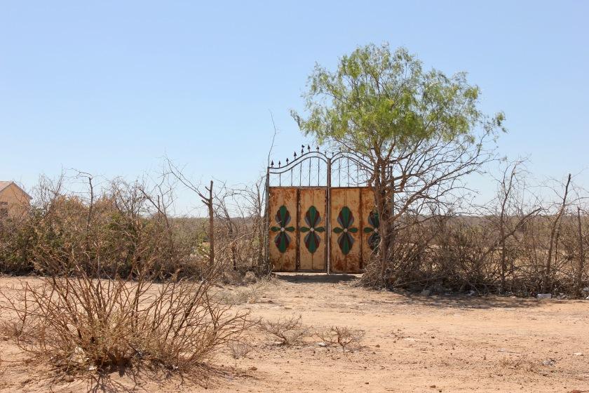 Somaliland Somalia Gabiley village fence door