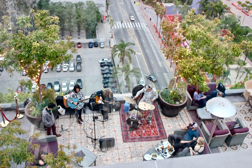 Los Angeles California LA perch rooftop band music