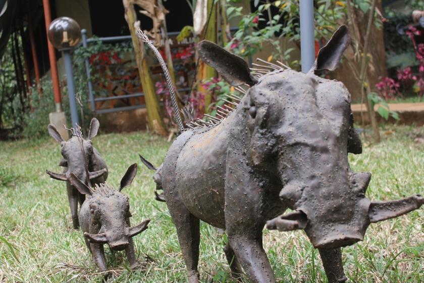 Kenya Nairobi warthog statue Pumba