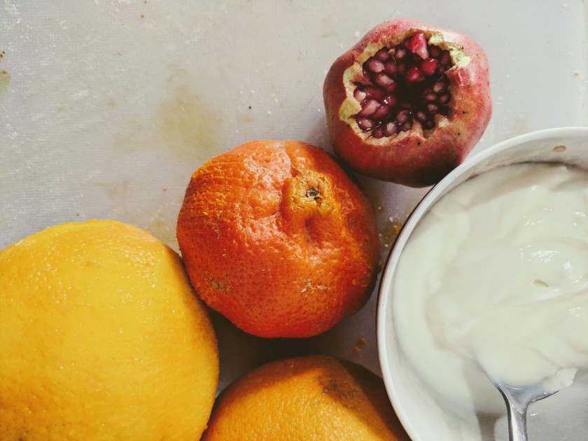 pomegranate mandarin orange yogurt zest Somaliland