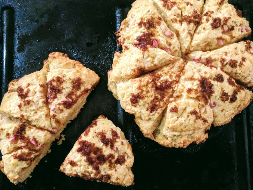 pomegranate scone bake baking