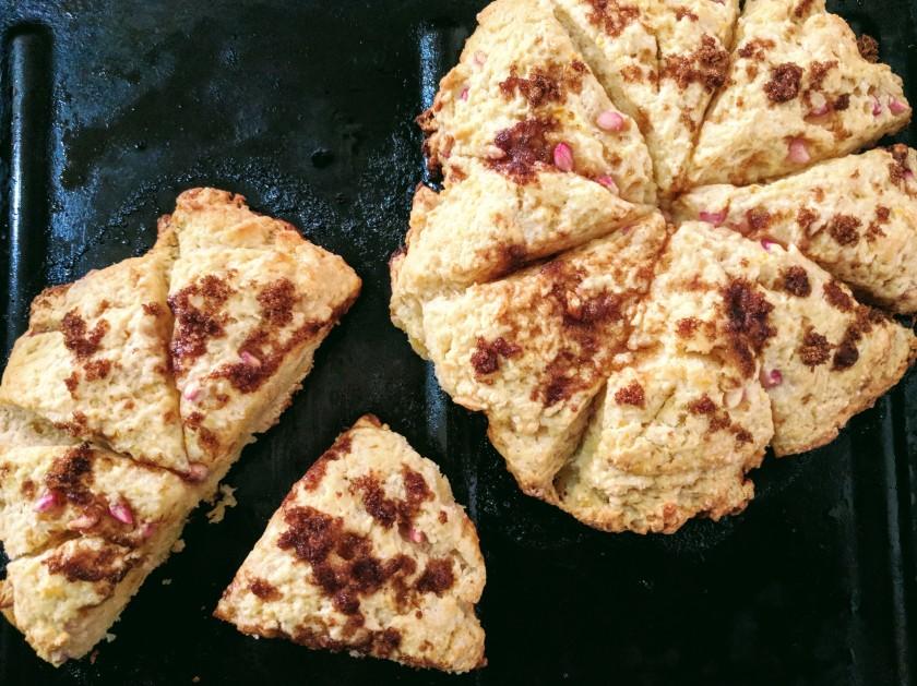 pomegranate scone bake baking