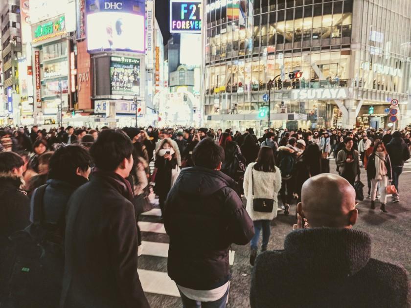 Shinjuku crossing street Tokyo Japan