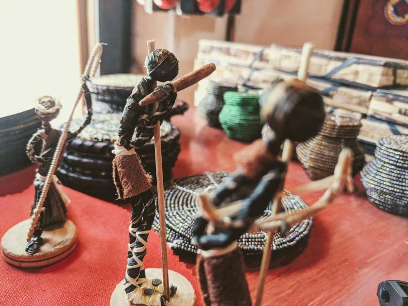 statue figurine straw Nairobi Kenya Africa